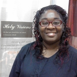 Eva Kimble - Managing Cosmetologist/Owner of Holy V isions Salon