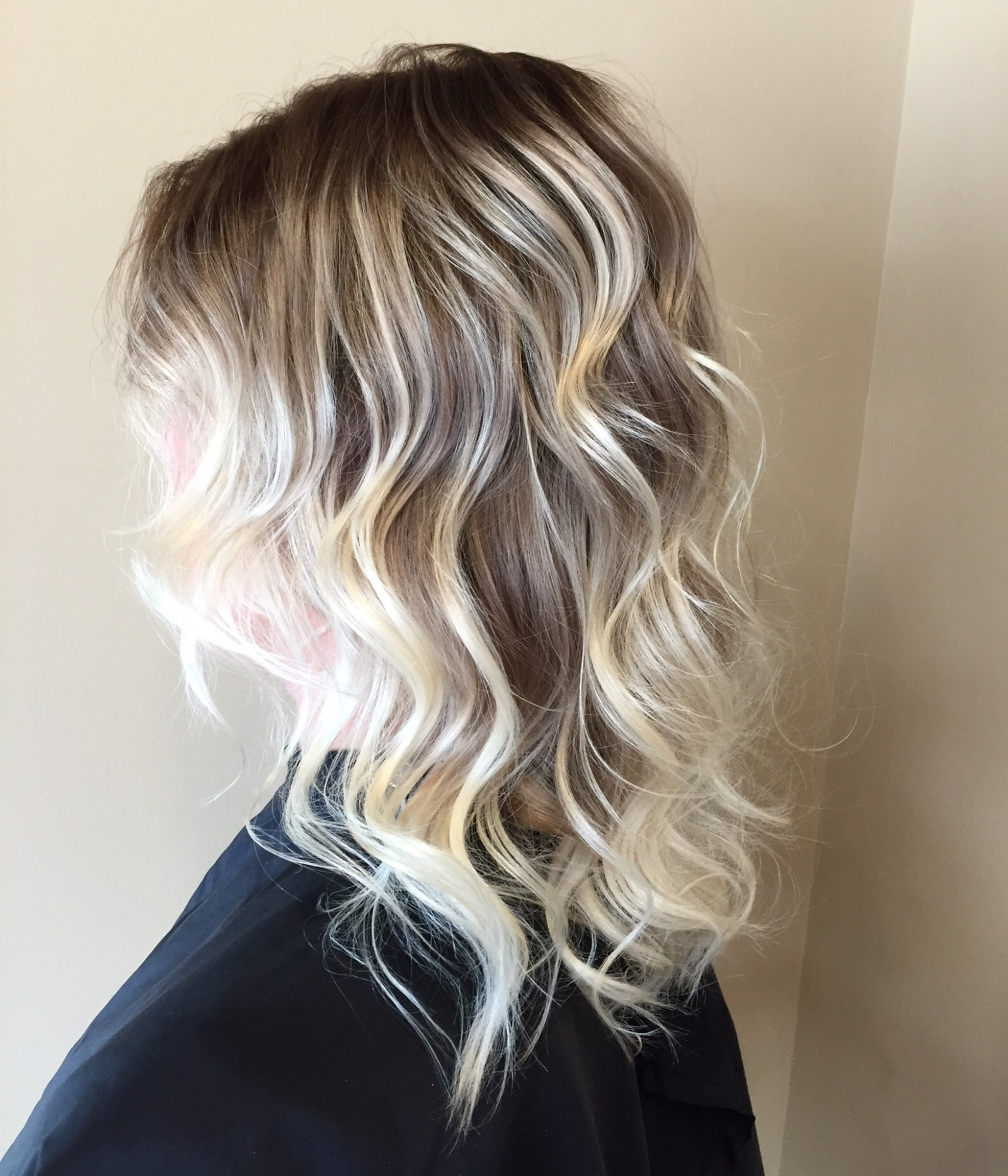 High rooted ombre blonde balayage   STUDIOC